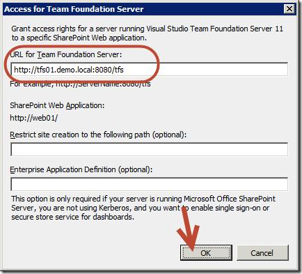 TFS: Installation using DNS aliases – Part 3 : Team
